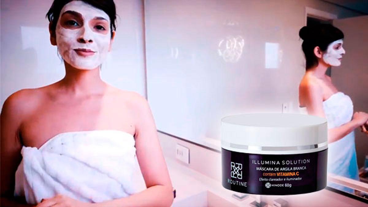 produto Hinode:Máscara de Argila Branca Illumina Solution